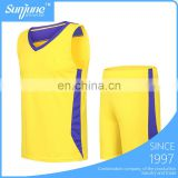 Cheap training suit 100% polyester basketball jersey uniform design