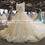 LS00265 plus size wedding dresses size 34 half sleeve lace up long train pakistani bridal wedding dresses