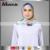 Fashion Islamic Accessories Tudung Women Shawl Printed Satin Silk Muslim Hijab Square Scarf