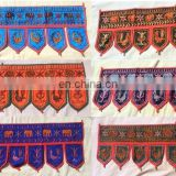 Indian Embroidered Door Hanging Mirror Work Toran Window Valance Topper Handmade Cotton Vintage Window door hanging wholesale