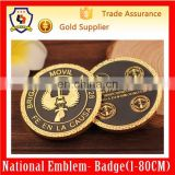 2015 hot sale round shape double colors gold and black Russia army challenge coin military souvenir coin (HH-souvenir coin-0061)