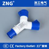 Multifunctional Industrial Plug and Socket 16A3P, 2-way spiltter industrial socket