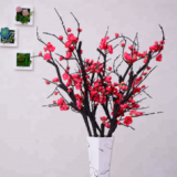 china supplier the best artificial red plum blossom for decoration