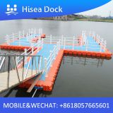 Plastic floating dock with floats