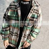 Kids Fashionable Clothing Boys Thick Plus Velvet Clip Thin Cotton Woven Long Sleeve Plaid Shirt