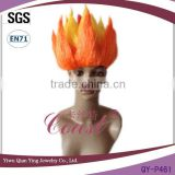 Fashion personality flame bright orange color synthetic party wig