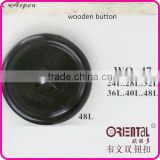 4holes black color wooden button with laser logo