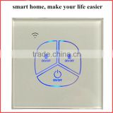 Tempered Glass Touch Panel N & L Connection Zigbee Light Switches For Plug and Play Installed Smart Home Automation System