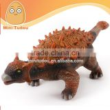 High quality simulation VINYL plastic 20'' Ankylosaurus dinosaur toy set for sale X005