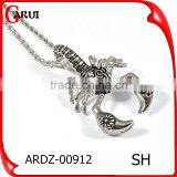 2016 Men Jewelry Animal Punk Styles Fashion Stainless Steel Scorpion Charms Pendant Desisgn fashion jewelry