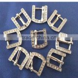 Wholesale Chrome Plated 10mm Inner Width Diamond Metal Buckle Pet Collar Alloy Buckles Upscale Rhinestone Dog Collar Buckle