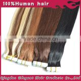 Best qulity wholesale seamless waterproof remy skin weft european virgin tape skin hair extensions