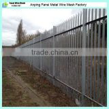 cheap second hand hot dipped galvanized steel palisade garden fence/fencing prices for sale