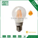 popular LED A60 Bulb, filament lamp 8W Thermally conductive plastic and Aluminium housing