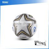 (120499)High quality shiny PU leather Butyl bladder soccer ball big blue star design football                                                                         Quality Choice