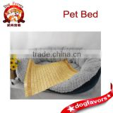 Fleece Pet Bed with Bamboo Mat, Summer Cool Dog Bed