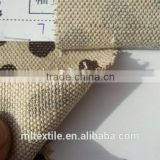 Burlap printed fabric/pur cotton linen fabric textile