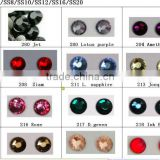 SS6 1.9~2.1mm Crystal Clear DMC Hot Fix Crystals Rhinestones Nail art Crystals stones 1440pcs/bag 2bag