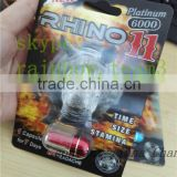 wholesale rhino 7 capsule blister card and box/3D blister card for chinese male enhancement pills/sex pill packaging