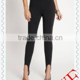2014 wholesale black colors ladies leggings custom sexy stylish stirrup leggings for women