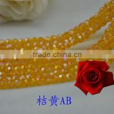 crystal glass beads for curtain,european style glass beads,round beads