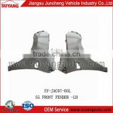 Hot sale SUYANG JAC S5 front fender metal auto parts supplier