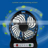 plastic air battery power portable cooling travel handheld usb small mini rechargeable fan