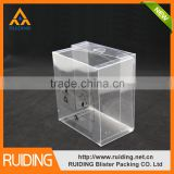 Jiangmen supplies fashion design clear chocolate packaging box PVC box transparent PP boxes