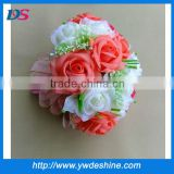 New design Hot sell rose wedding flowers 2014 ball artificial flower ball muticolor H-311