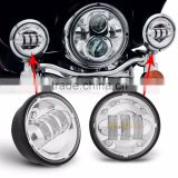 "4-1/2"" 4.5inch LED Passing Light for Harley Davidso-n Fog Lamps Auxiliary Light Bulb Motorcycle Daymaker Projector Driving Light"