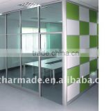 V84 series used office wall partitions / clear glass partition wall / office partition walls / aluminum profiles                                                                         Quality Choice