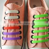Manufacturing high quality convenient silicone lazy coloured shoelaces with pair blister card pack