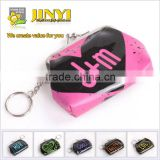 "shinning PVC ""kiss"" printing cheap mini change purse with metal staple for promotion"