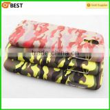 camouflage cell phone accessory pc rubber coating plastic water transfer printing for wholesale samsung galaxy S4 case