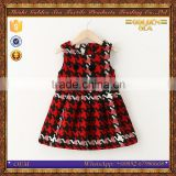 latest style children pretty swallow gird baby girl woolen dress