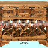 bar furniture,wine bottle rack,commercial furniture,cabinet,sheesham wood furniture,mango wood furniture,indian wooden furniture