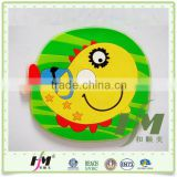Eco-friendly 10*10*0.35cm Colorful Practical Beautiful Soft PVC Cup Coaster