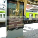 aluminum frame bus stop scrolling display signage