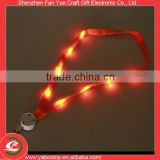 Unique Flashing Polyester Woven LED Lanyard