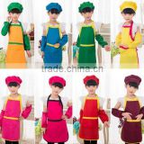 2016 Promotional wholesale cotton fabric kids apron and chef hats