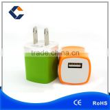 Brand new universal 5V 1A mobile cell phone charger US plug travel charger USB power adapter for iPhone iPad Samsung