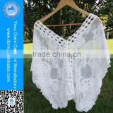 Domi White Cotton Butterfly-Sleeved Lady Blouse Woman Beach Wear