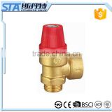 ART.5058 factory manufacture forged automatically brass water safety pressure relief valve for controlling pressure on boilers