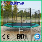 Big Commercial Outdoor Fitness Bungee Jumping Trampoline With Specification Safety Enclosure