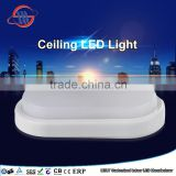mingshuai IP44 mounted ceiling light led, round led ceiling light, round plastic ceiling light covers
