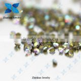 Hot fix point back Crystal AB rough gemstone price loose rhinestone for jewelry