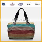 China Large capacity canvas travel tote luggage weekender duffel satchel mens travel bag