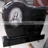 Shanxi black granite tombstone for sale