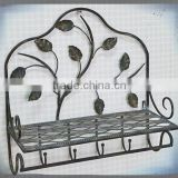 wholesale home decorative accessory storage with hooks antique towel rack,bathroom towel rack,metal towel rack