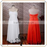 RSE231 Simple Long Chiffon Bridesmaid Dresses Coral Color